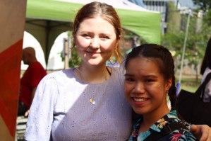 teamCARPE's Angel meeting Dali Schonfelder (Nalu Clothing) after an interview